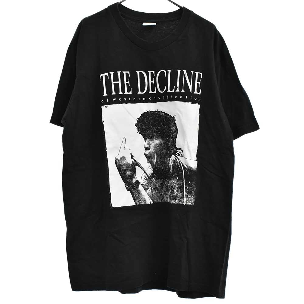 Decline of Western Civilization Tee デックラインオブウエスタン シヴィライゼーション フロントプリント半袖クルーネックTシャツ