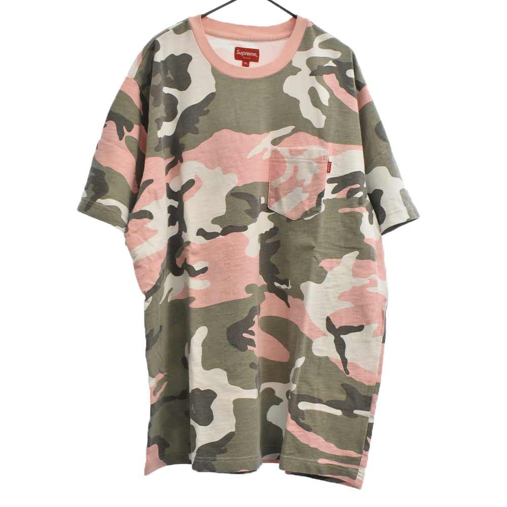 Pocket Tee 半袖クルーネックポケットTシャツ カモフラージュ