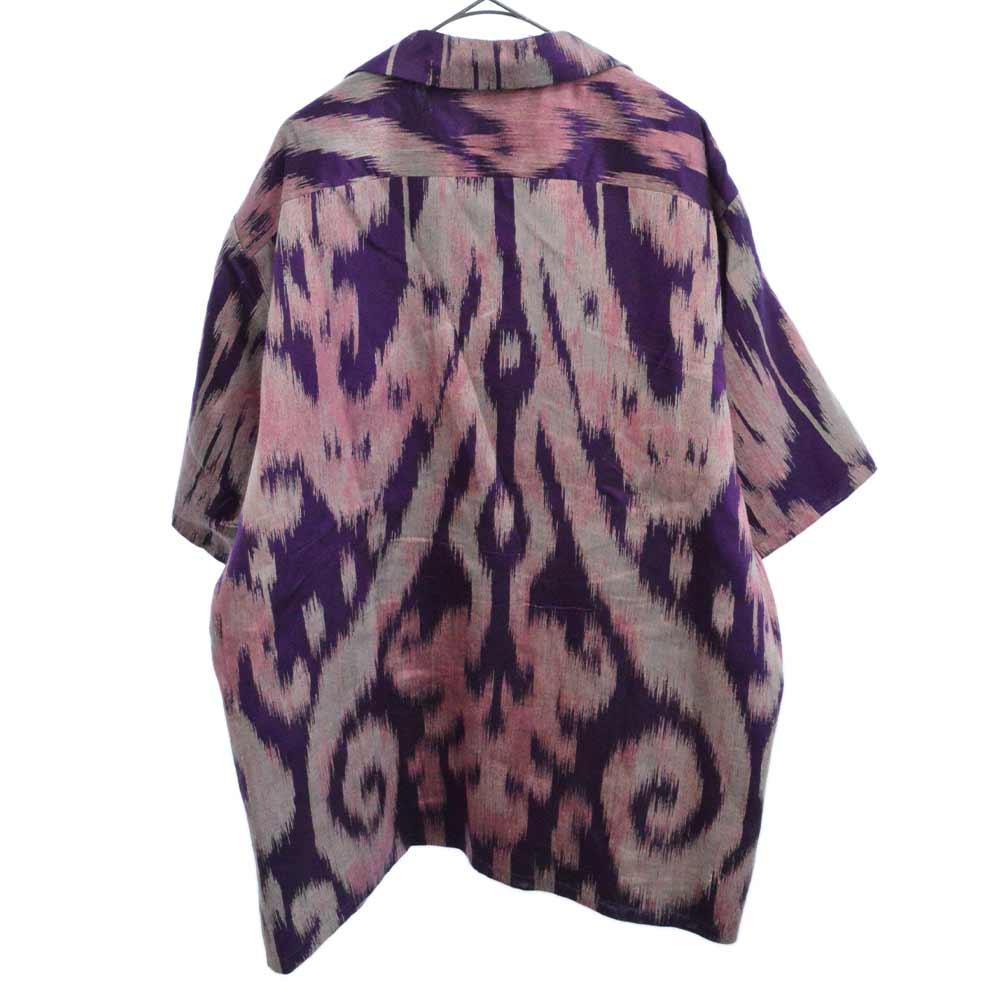 レトロ スワーリング ジャカード オーバーサイズ ボウリングシャツ
