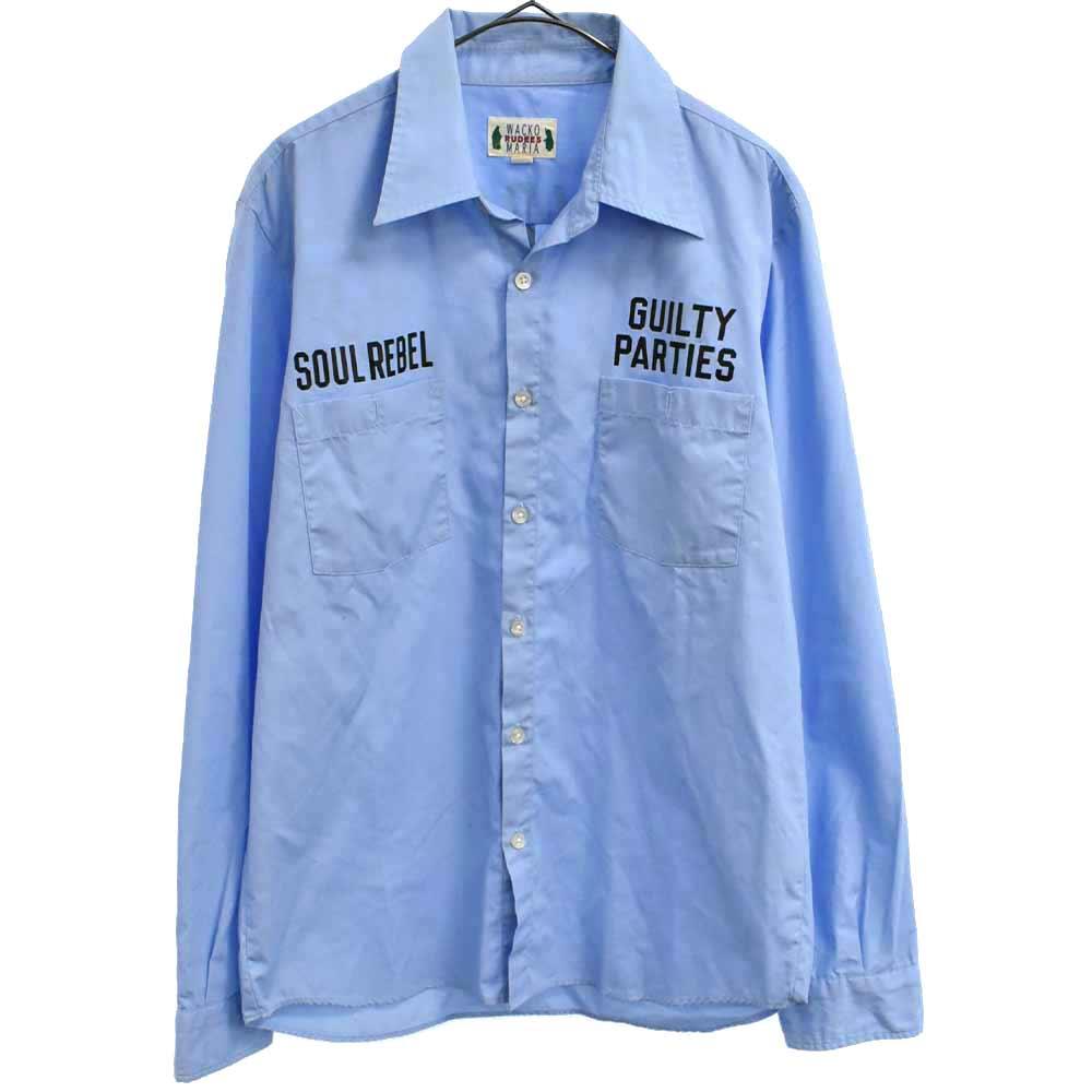バックアーチロゴプリント長袖シャツ