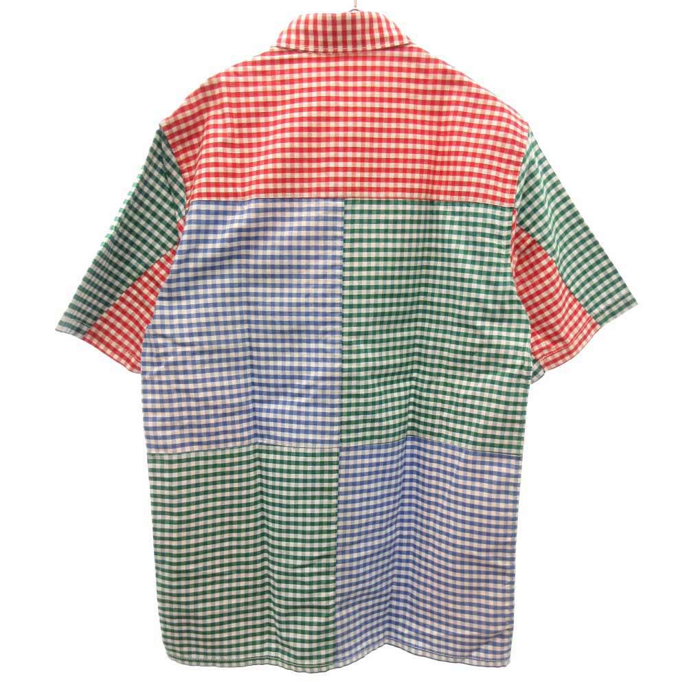 ギンガムチェック胸ポケット付き半袖シャツ
