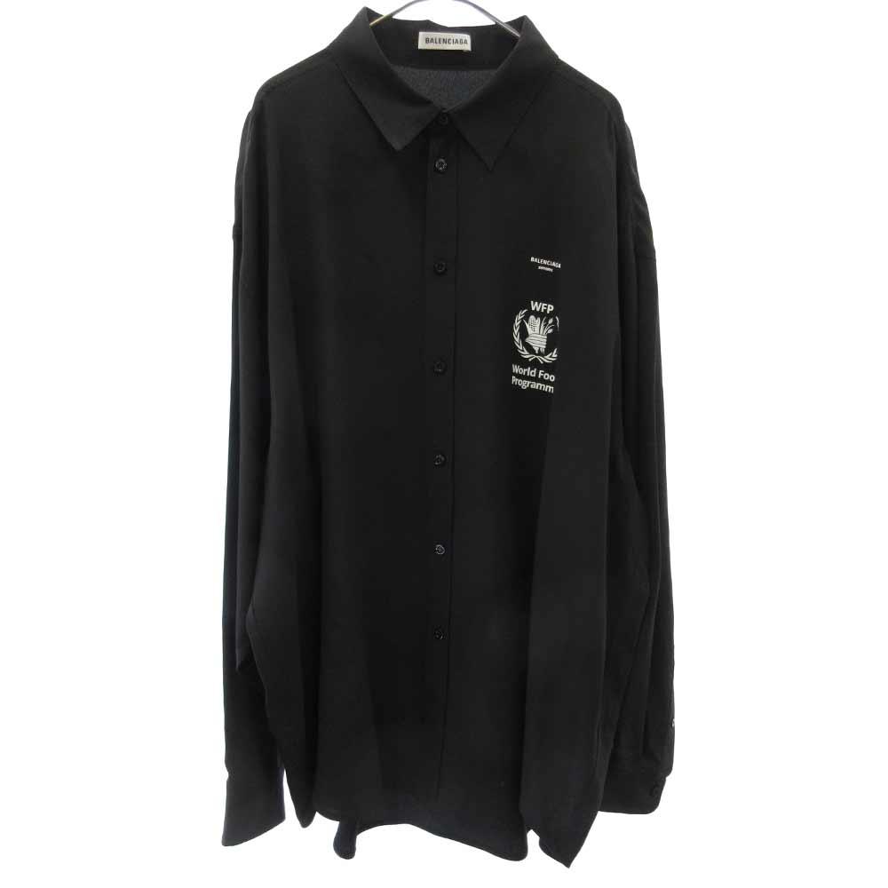 WFP Logo Silk Shirts WFPプリントシルク長袖シャツ