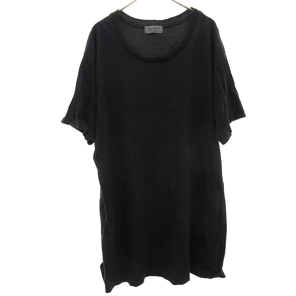 ネックデザインクルーネック半袖Tシャツ