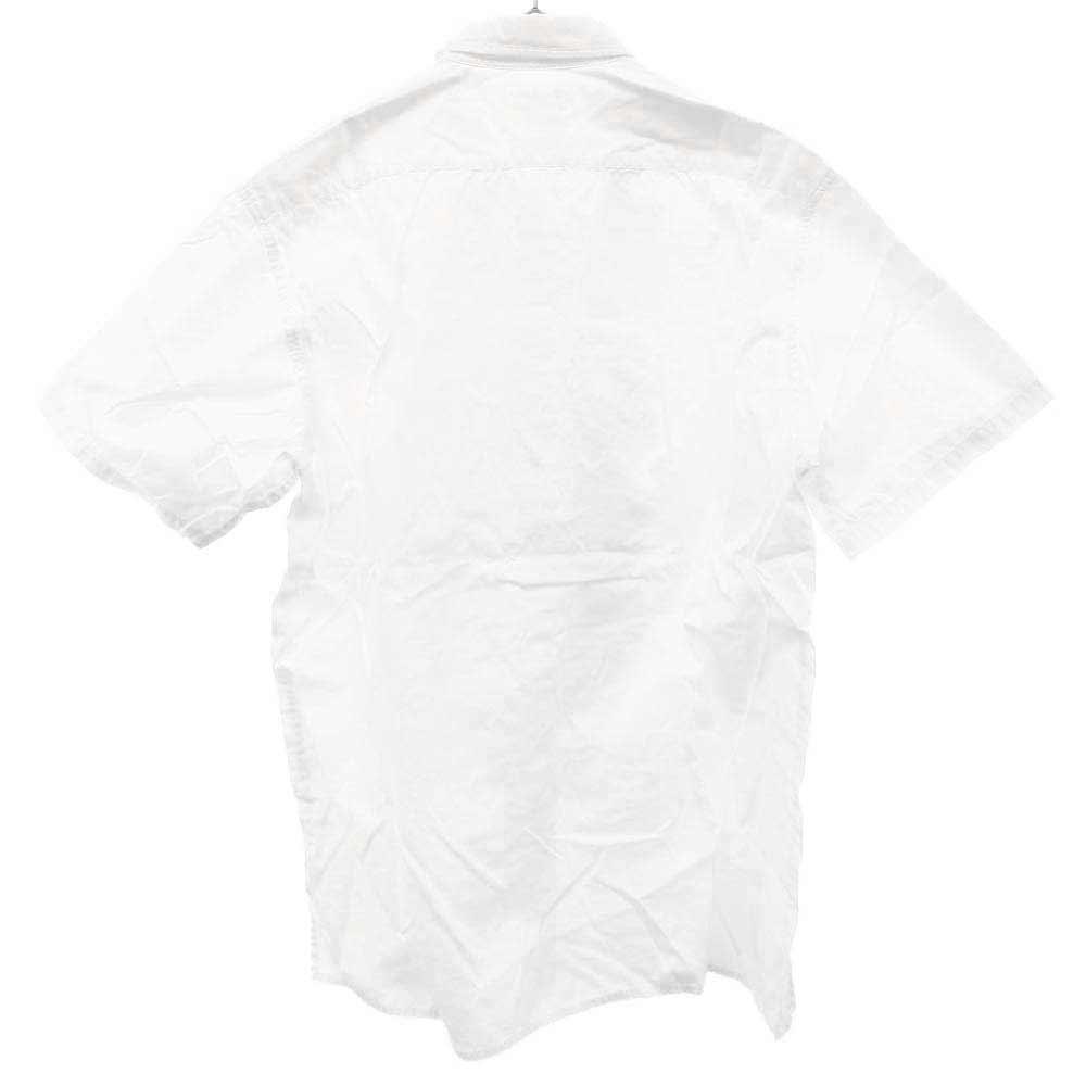 ドレープデザインパッチワーク 半袖シャツ