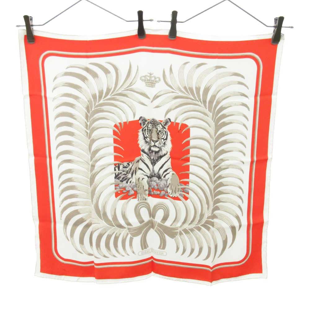 カレ70 タイガープリント シルクスカーフ