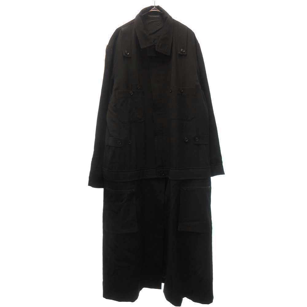 LOOK30 ウールギャバジンツナギファスナードレス ジャケット コート