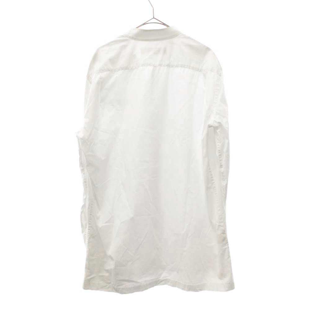 ノーカラー長袖シャツ