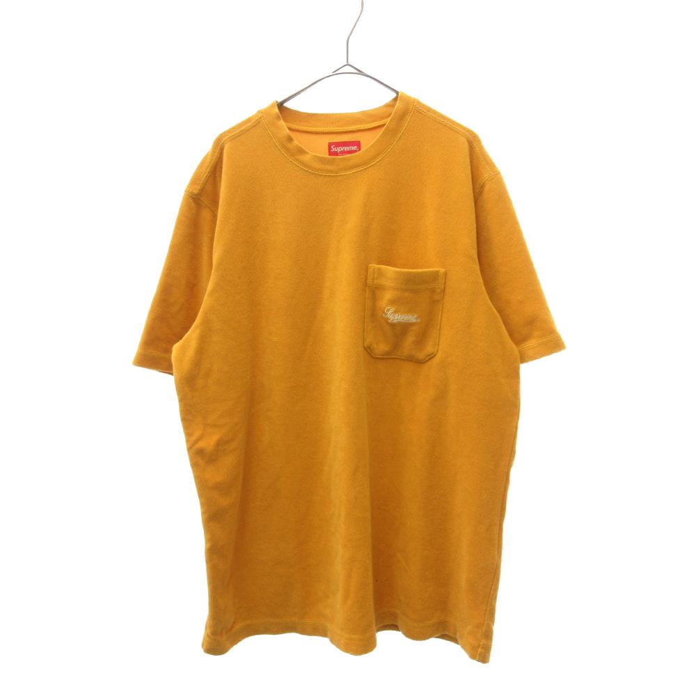 Terry Pocket Tee クラシックロゴ刺繍胸ポケット付きパイル地半袖Tシャツ