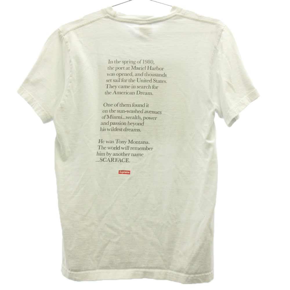 x Scarface スカーフェイス フロントプリント半袖Tシャツ