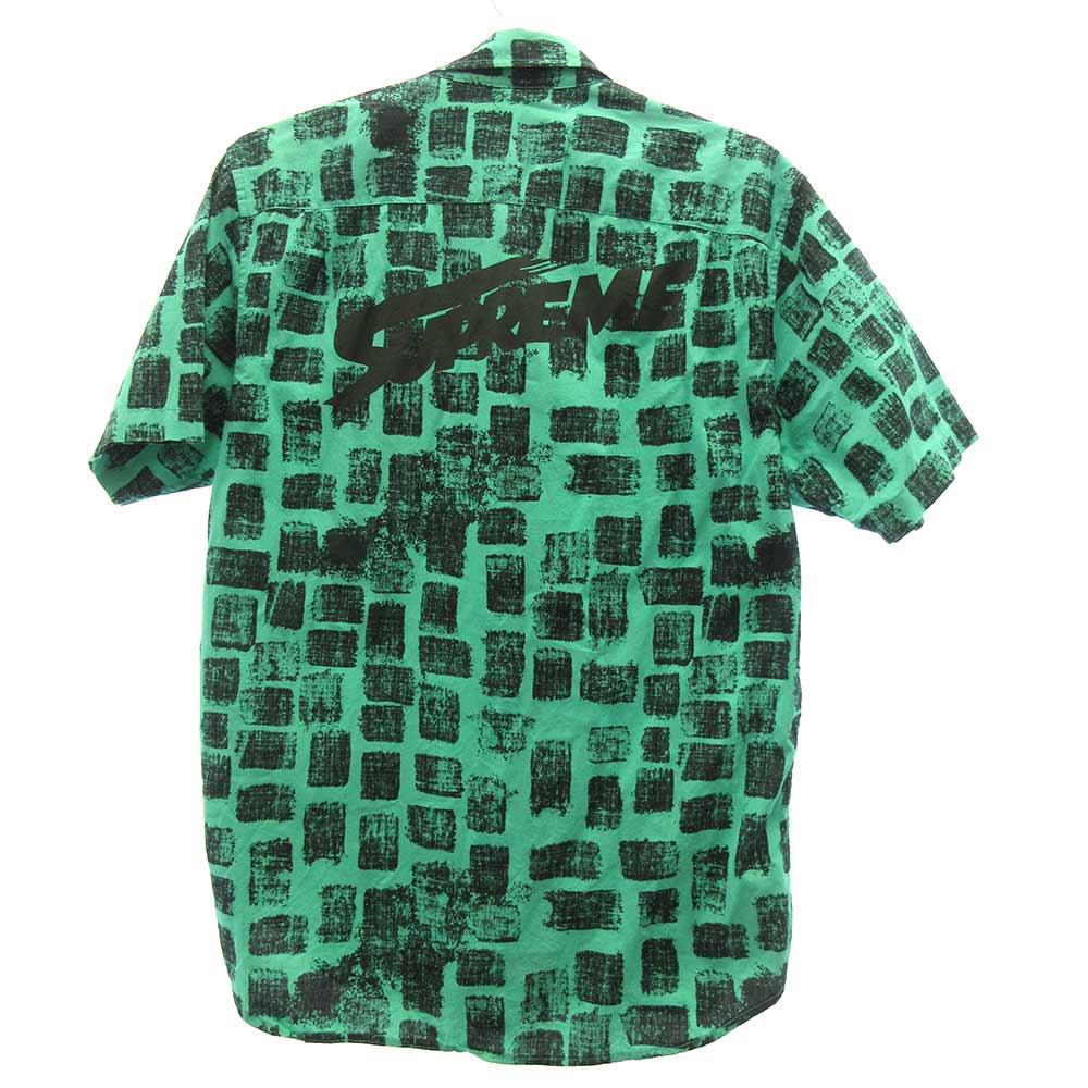 BLOCK PRINT SHIRT ブロック プリント 半袖シャツ