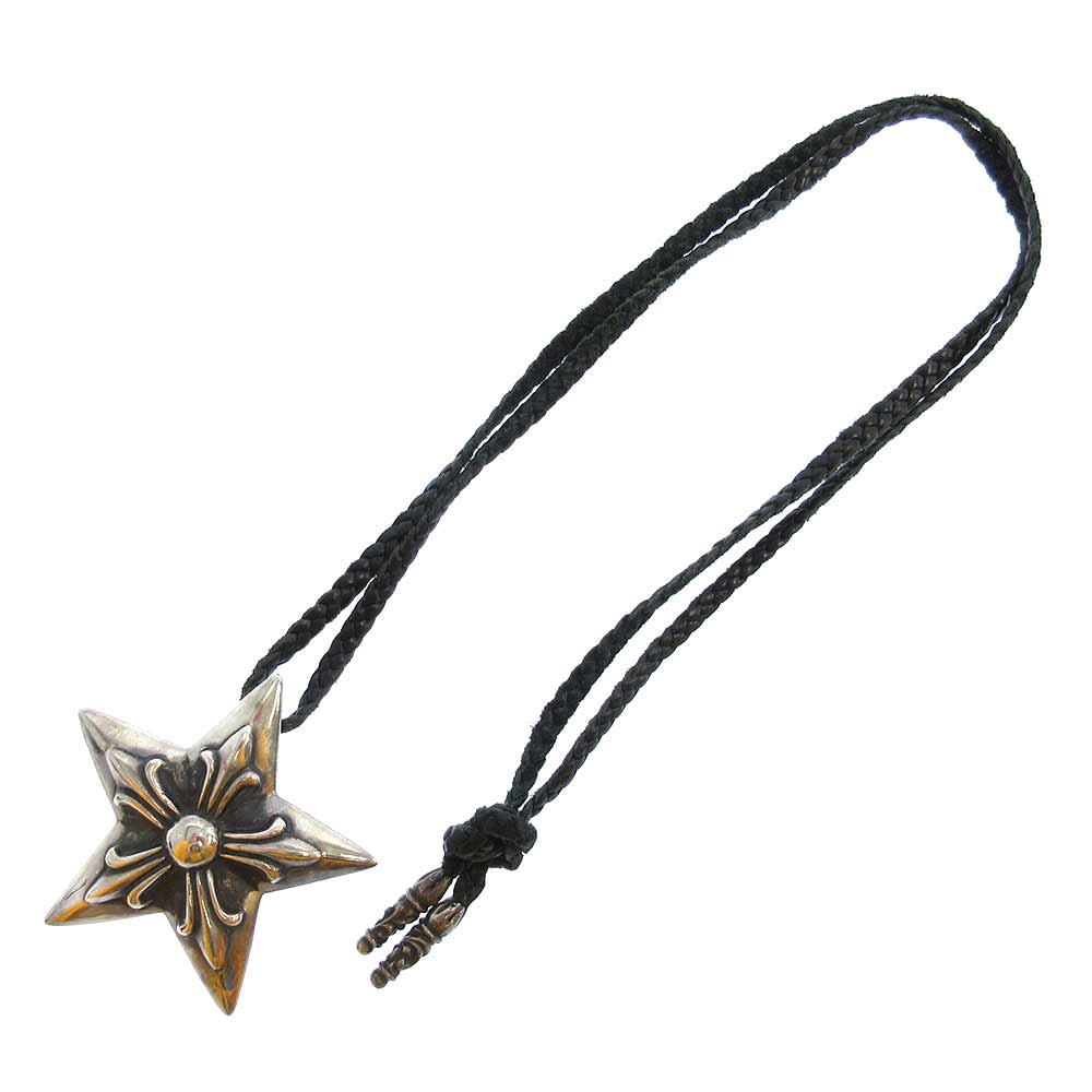 LARGE STAR ラージスターレザーペンダント ネックレス