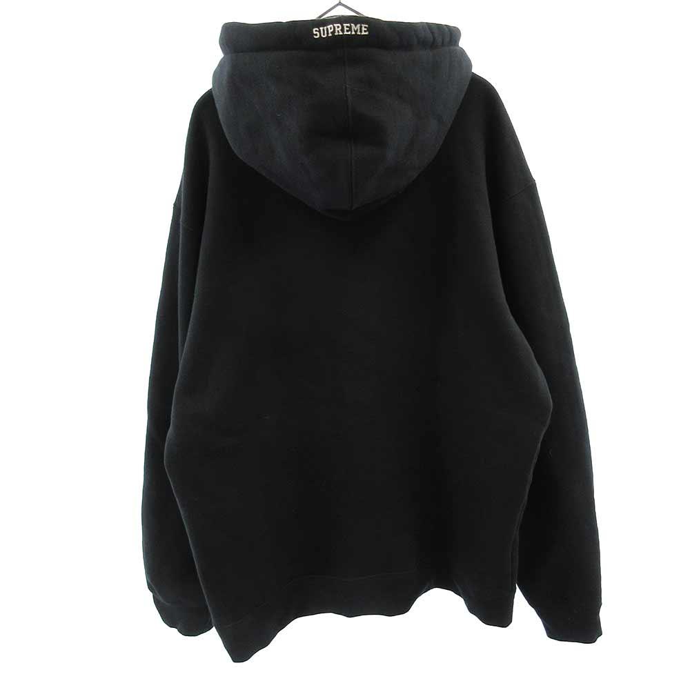 ×NIKE Leather Applique Hooded Sweatshirt
