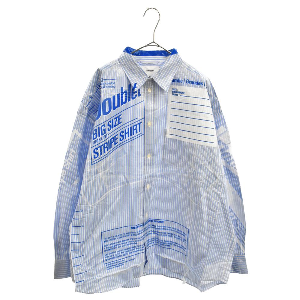 OVERSIZED FREEZER-BAG PACKAGE SHIRT オーバーサイズストライプパッケージシャツ 長袖