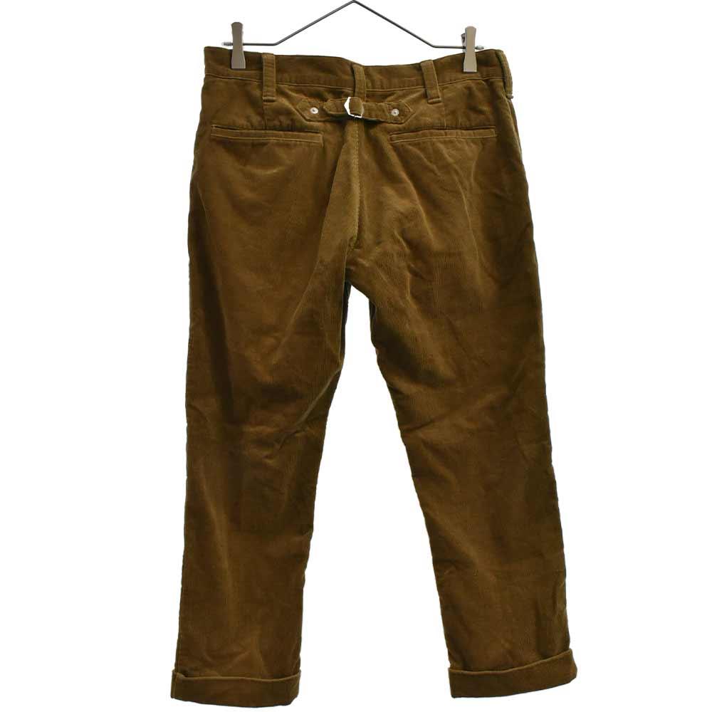 CORDUROY CROPPED PANT 裾ダブル仕様シンチバック付き八部丈コーデュロイクロップドパンツ