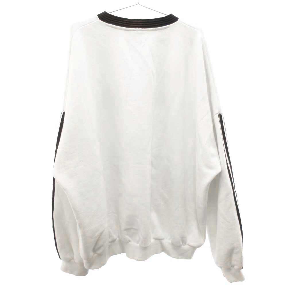 18AW×adidas Embroidered Sweatshirt サイドライン エンブロイダリースウェットトレーナー