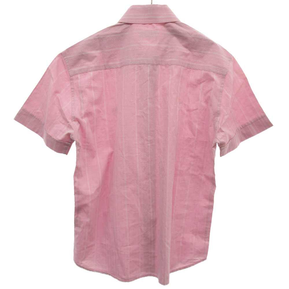 ストライプロゴ刺繍半袖シャツ