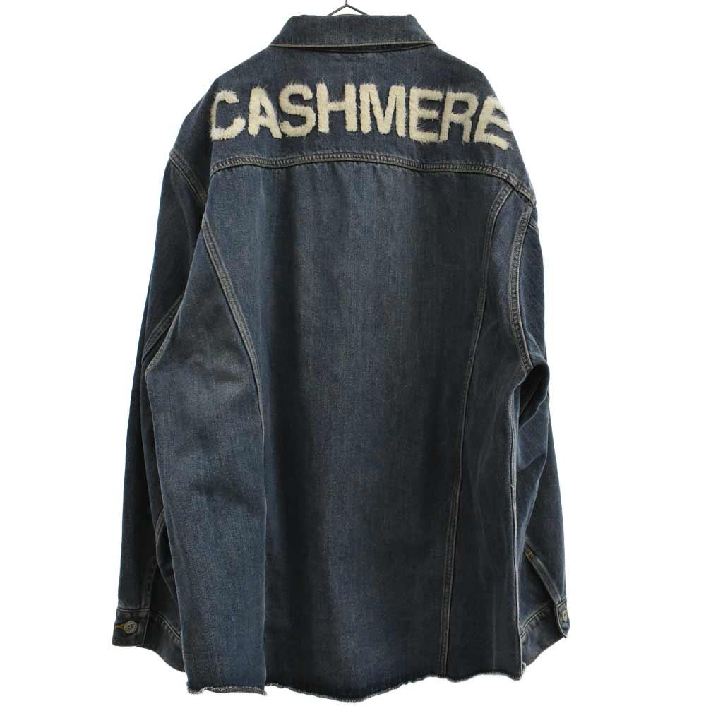 CASHIMERE DENIM JACKET バッグデザインデニムジャケット