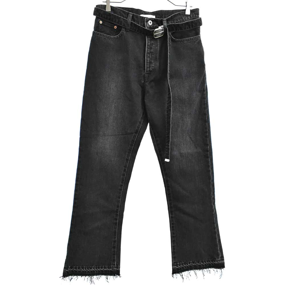 CASHMERE DENIM BOOT CUT PANTS ブーツカットデニムパンツ