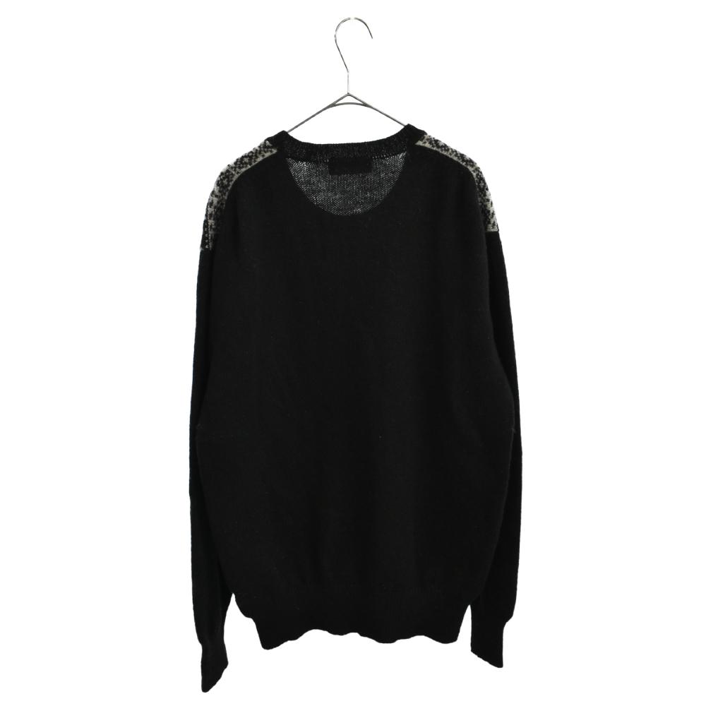 切替デザインノルディック柄ニットセーター