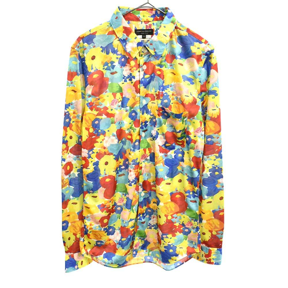 総柄長袖シャツ PR-T019 花柄 フラワー AD2016
