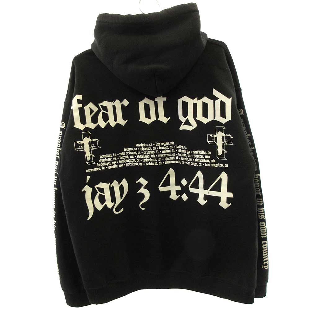×JAY-Z 4:44 Sweat Hoodie ヨハネ アルバムロゴプリントプルオーバーパーカー