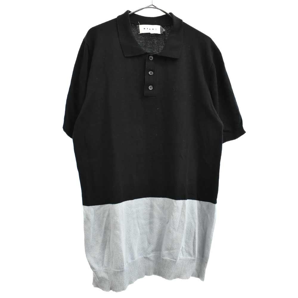 3Bバイカラーニットポロシャツ