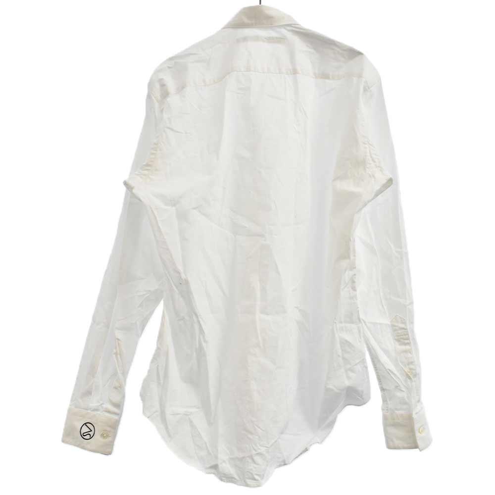 袖ロゴ刺繍長袖シャツ