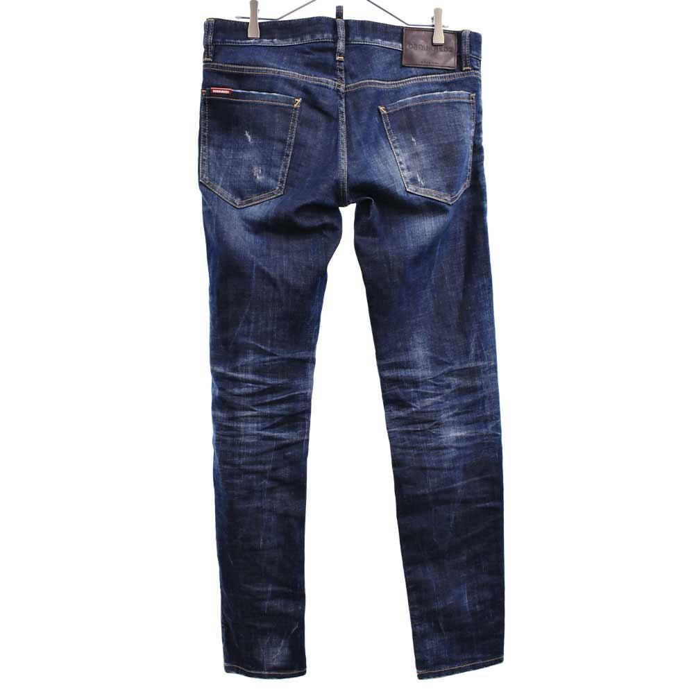 ダメージウォッシュ加工スリムデニムパンツ Slim Jean