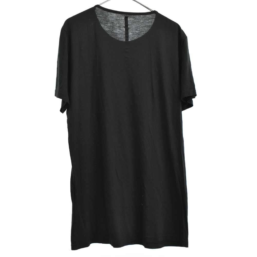 ジーザスフロントプリントクルーネック半袖Tシャツ キリスト