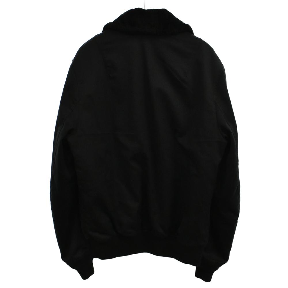 SHAKE A LADY 裏ファーガールロゴプリントジップアップボンバージャケット ブルゾン デッキ