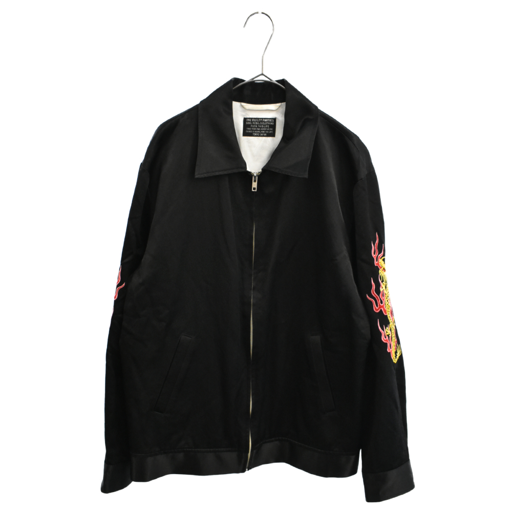 ベトナムジャケットスーベニア ドラゴン刺繍ブラック