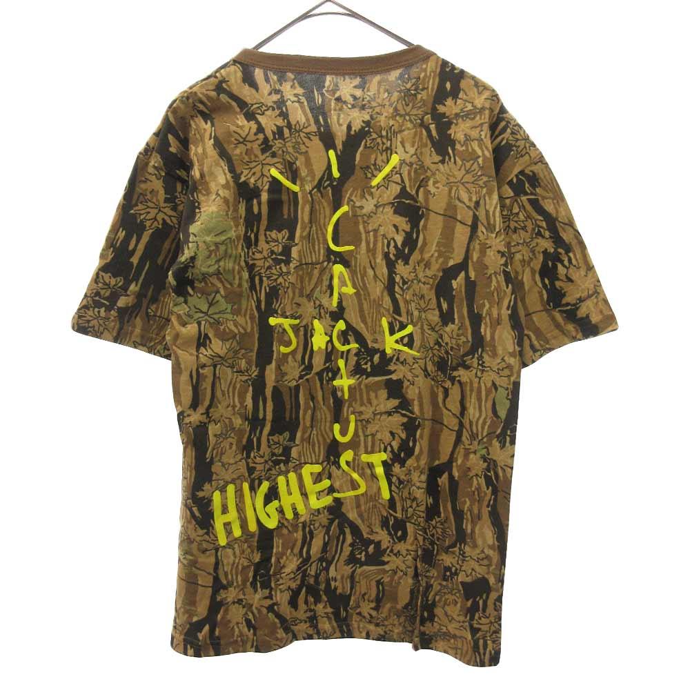 ×TRAVIS SCOTT HITR CACTUS JACK HIGHEST IN THE ROOM カクタスジャックカモ半袖Tシャツ
