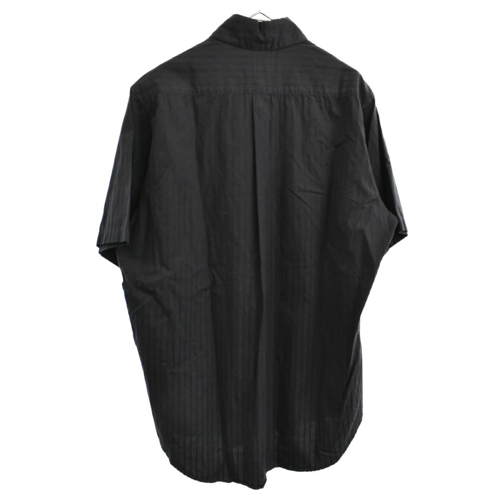 ワンポイントストライプ半袖シャツ