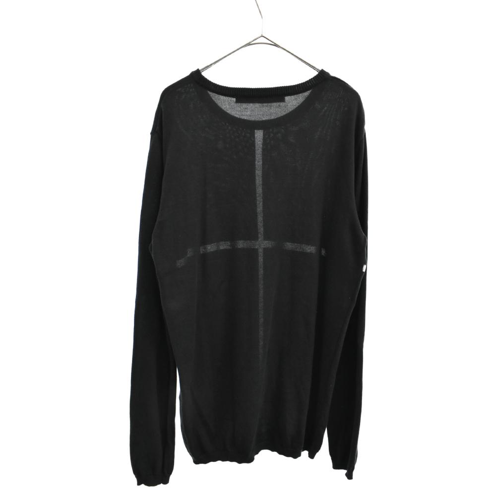 クロスデザインニットセーター