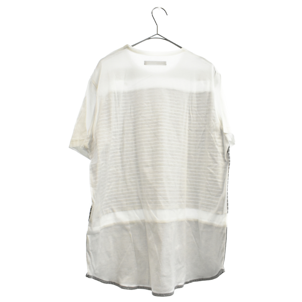 ボーダー切替半袖Tシャツ