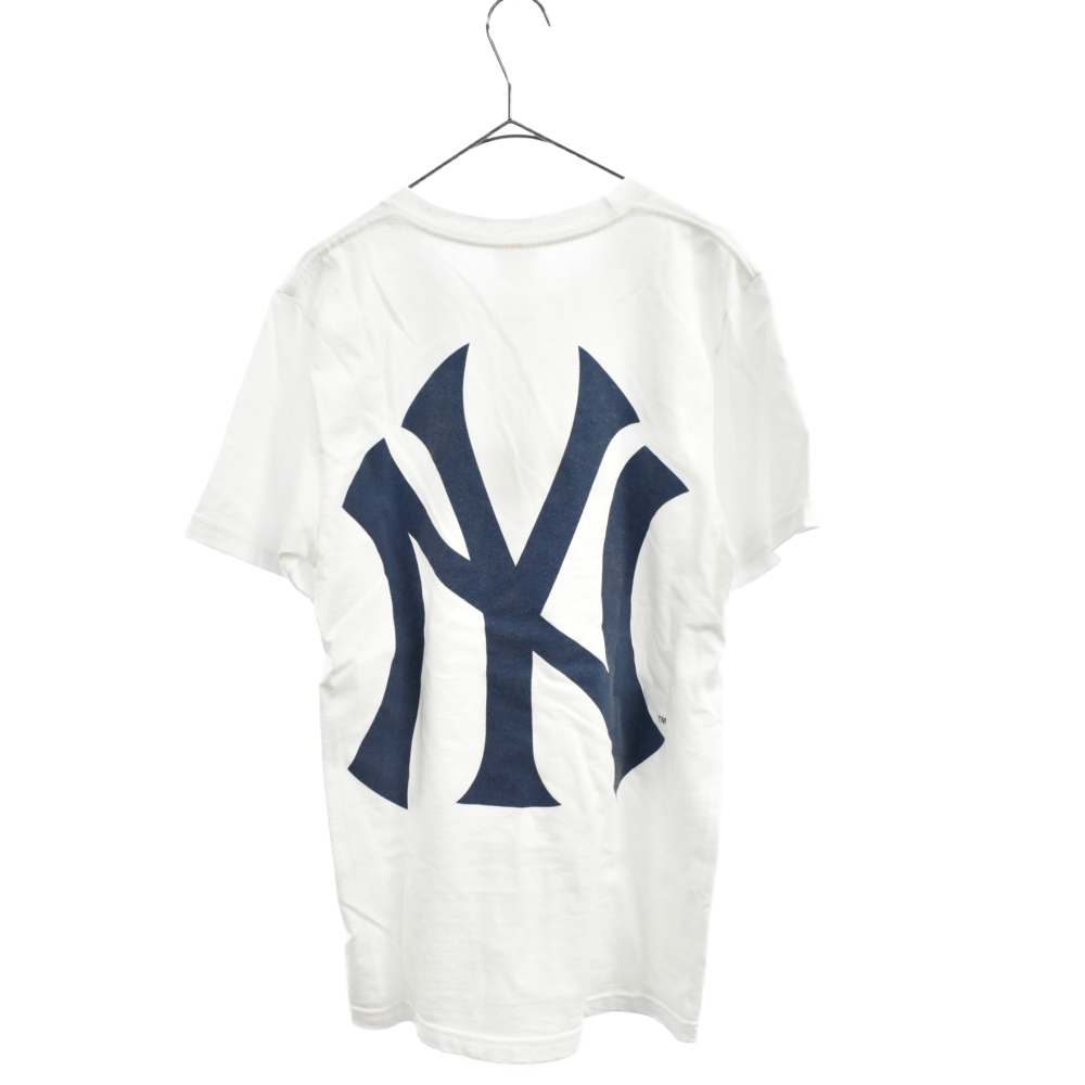 New York Yankees Box Logo Teeニューヨークヤンキースボックスロゴ半袖Tシャツ