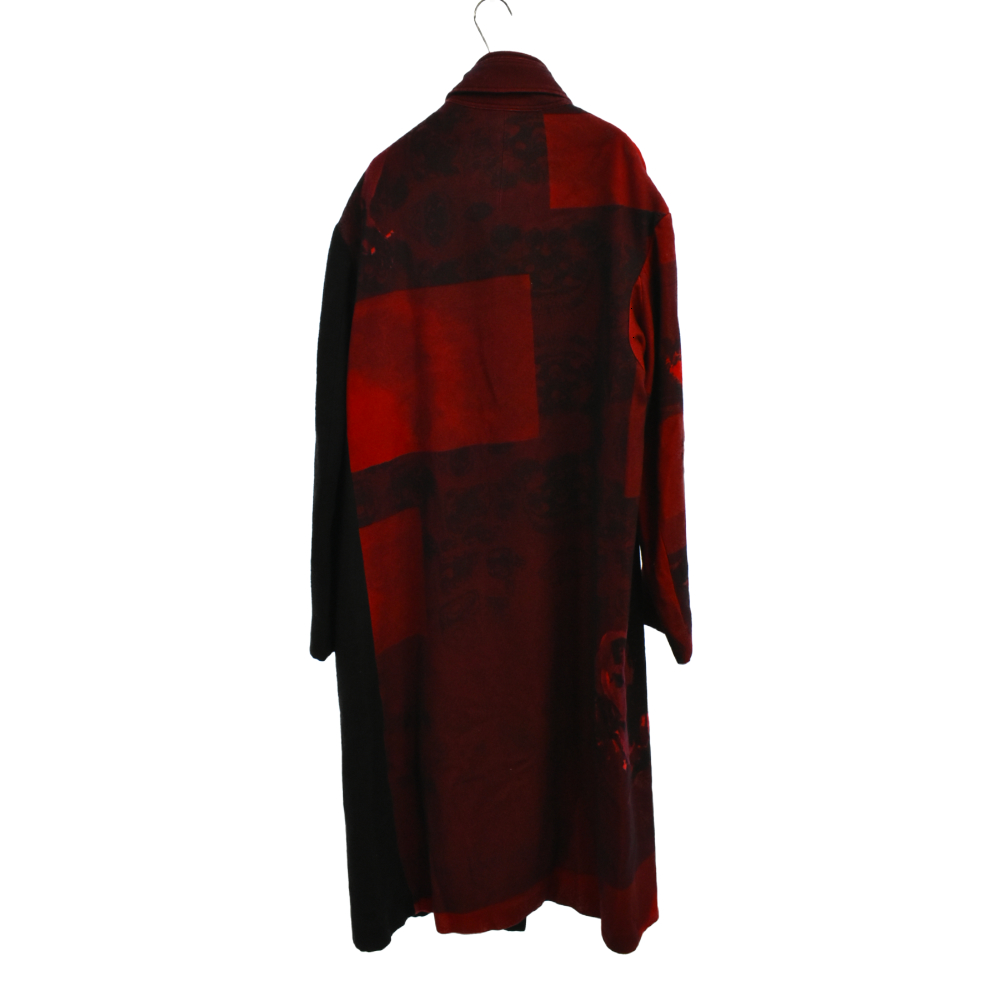 Red flannel right front dress coat 赤フラノ右前ドレス ウールコート