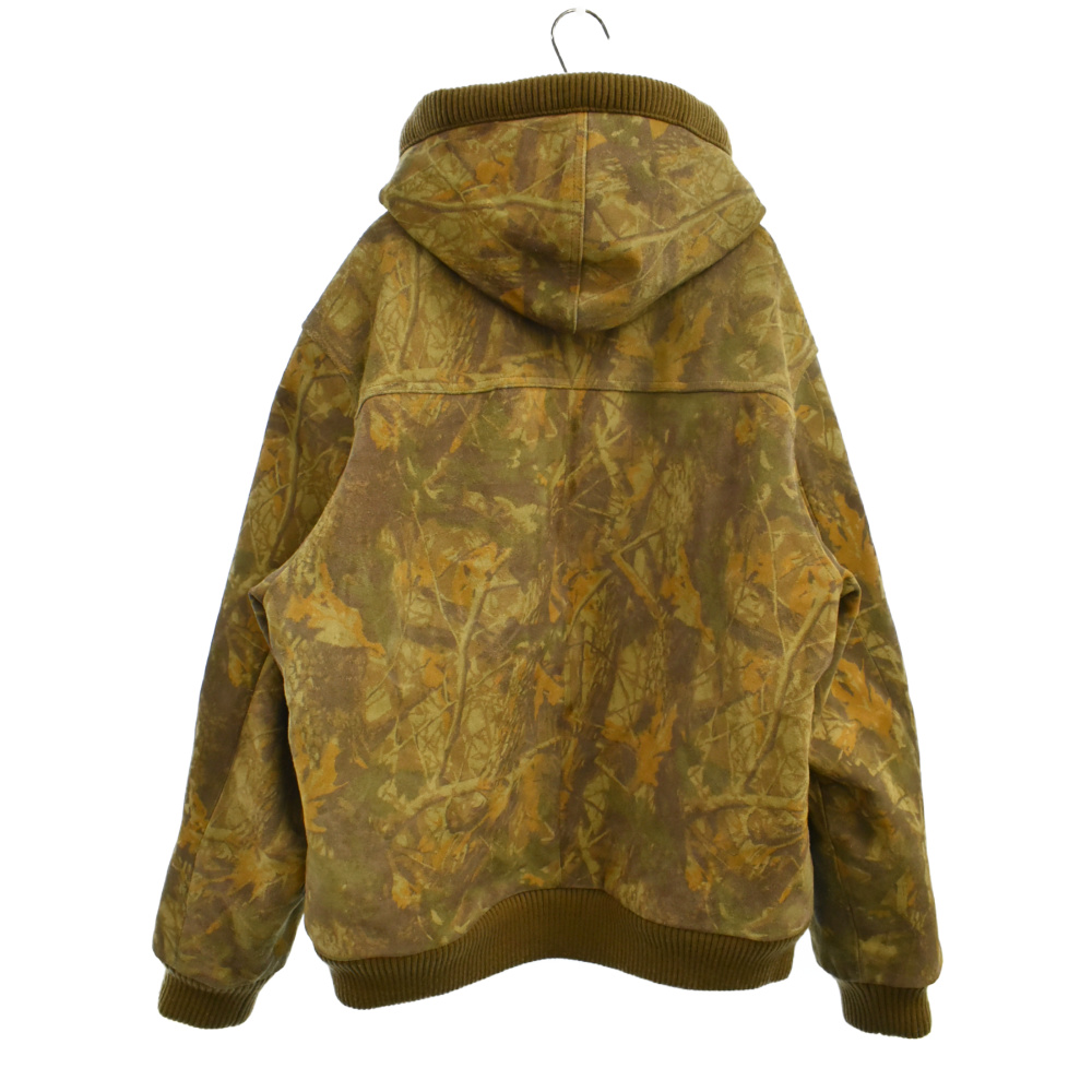 Hooded Suede Work Jacket ツリーカモボアレザージャケット