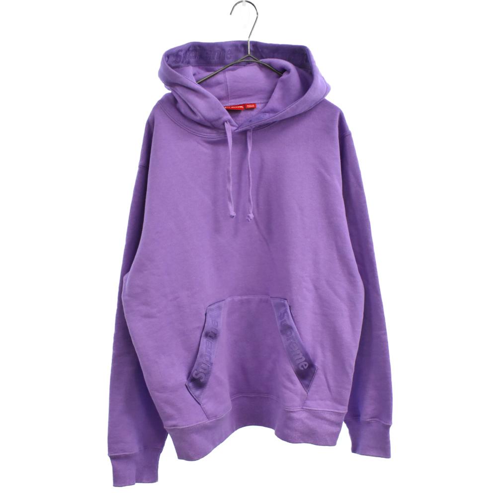 Tonal Webbing Hooded Sweatshirt トーナルウェビングロゴプルオーバーパーカー