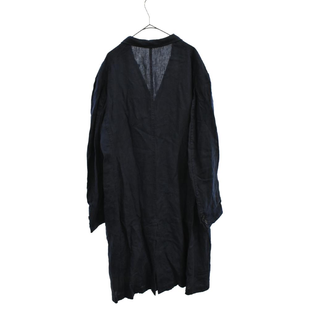 5B リネンキャンバス ロングコート ジャケット