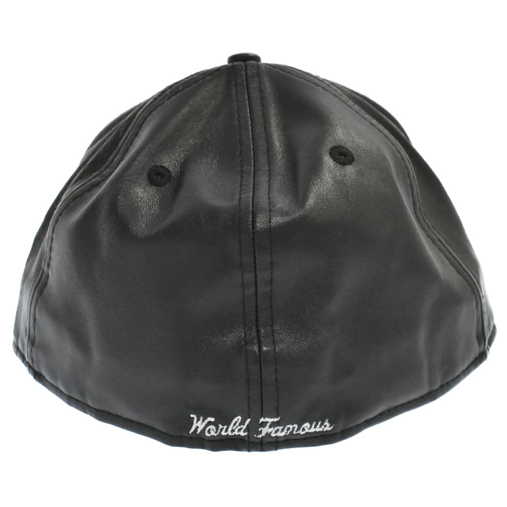 ×NEWERA Leather Box Logo Cap ボックスロゴレザーベースボールキャップ ニューエラ 帽子