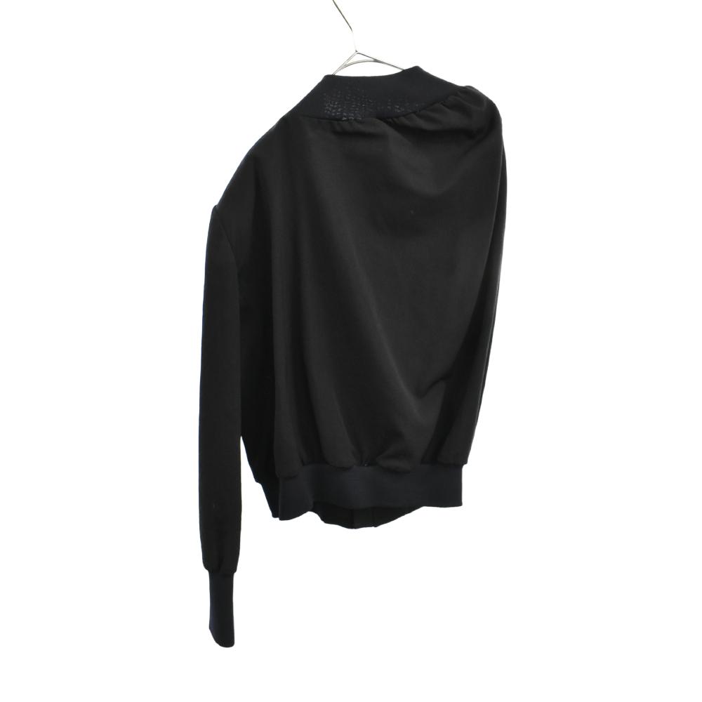 アシンメトリーウールジップアップジャケット
