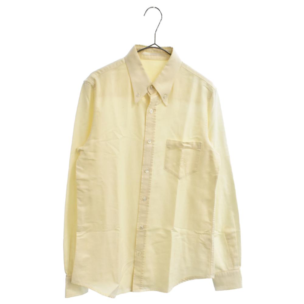 ポケット刺繍ボタンダウン長袖シャツ