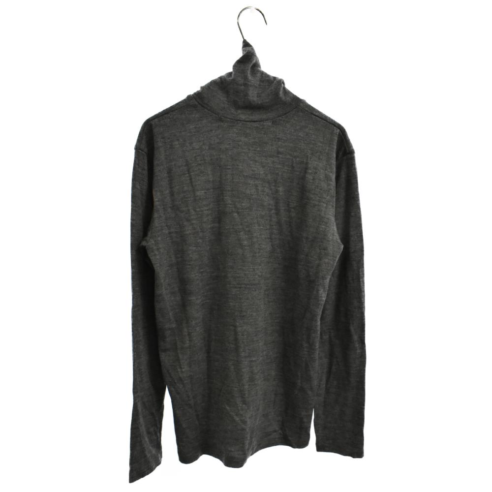 タートルネックニットロングカットソー セーター