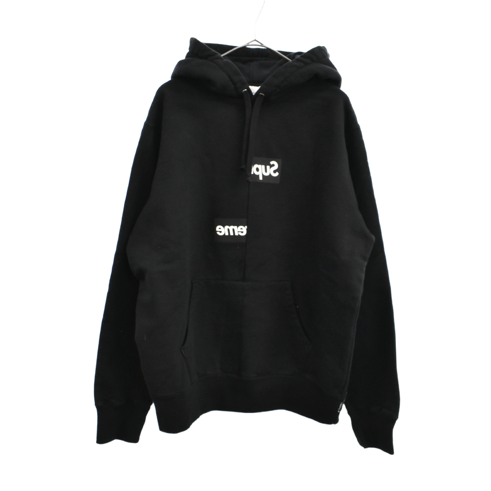 COMME des GARCONS SHIRT Split Box Logo Hooded Sweatshirt コムデギャルソンシャツ スプリットボックスロゴパーカー