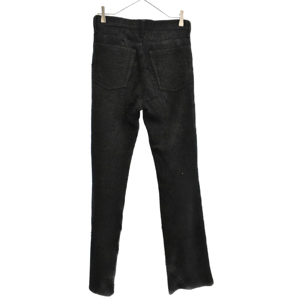スウェード生地 ポケット刺繍ステッチデザイン フレアボトムパンツ サンプル SAMPLE