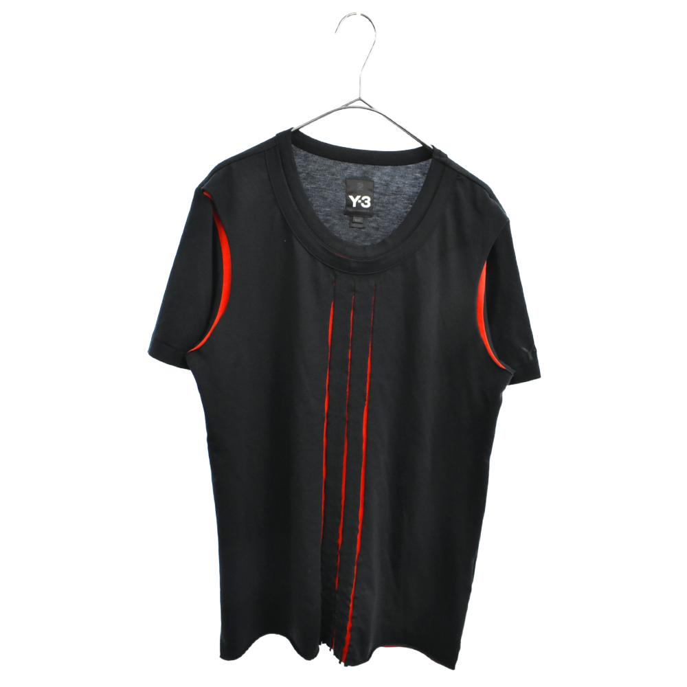 AAU001 レイヤードデザイン半袖Tシャツ