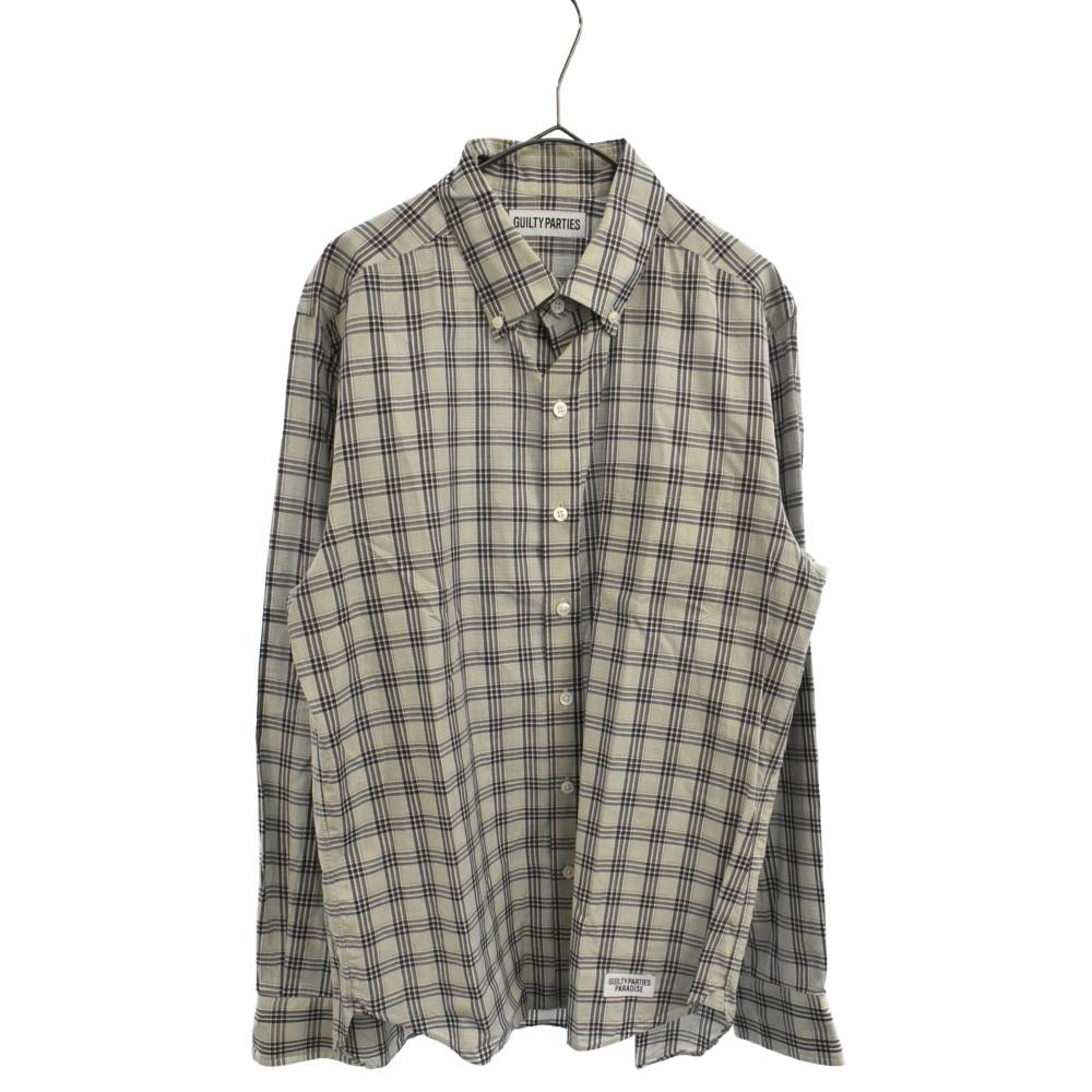 チェックロングスリーブドレスシャツ