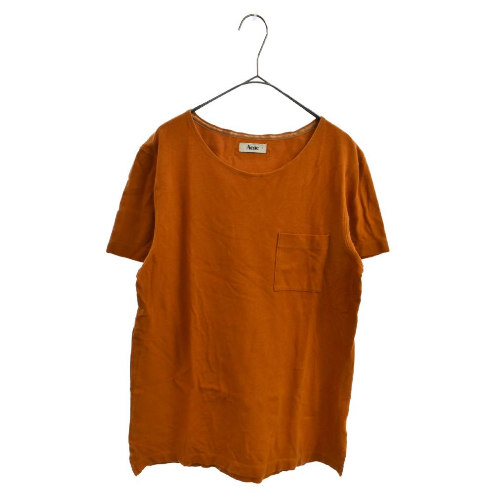 ボートネックポケット付き半袖Tシャツ