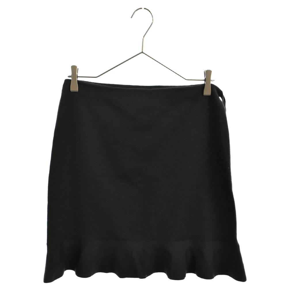 カシミアシルクフレアスカート ストレッチ素材